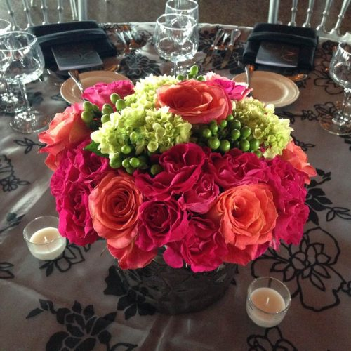 color & company - Floral Arrangement - orange red